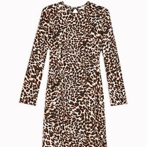 topshop sheer animal print dress size 12